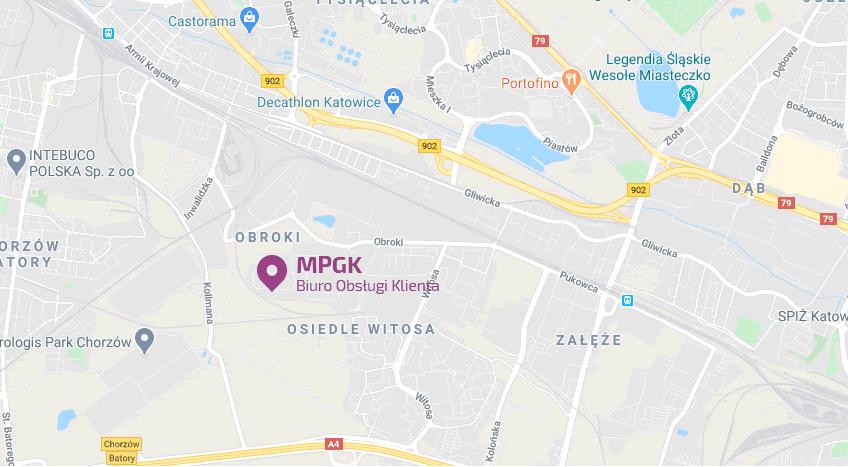 loklaizacja MPGK Katowice