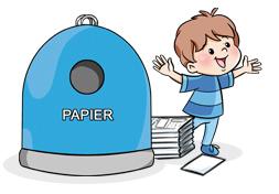 Zdjęcie pojemnika na papierowe śmieci
