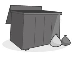 Zdjęcie śmietnika na odpady zmieszane